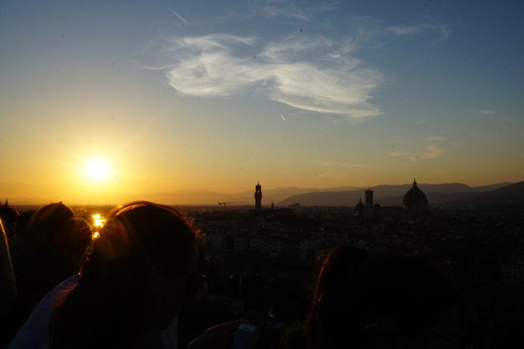 ミケランジェロ広場から眺めるサンセット