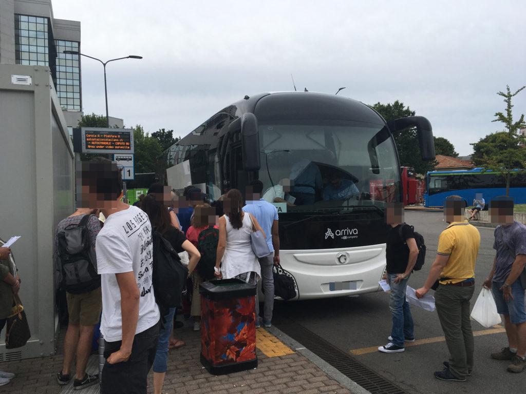 ミラノ高速バス乗り場