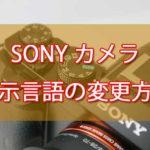 【簡単】SONYのカメラで言語設定を変更する方法[35言語]
